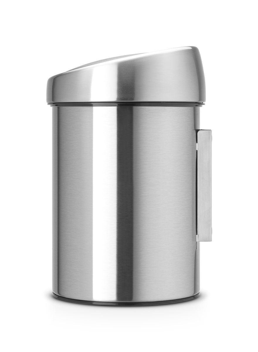 Wc Prullenbak Brabantia Touch Bin Prullenbak 3 L Matt Steel Fingerprint Proof