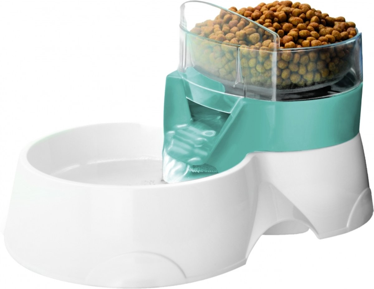 Voerdispenser Kat Pet Feeder 2 In 1 Blauw