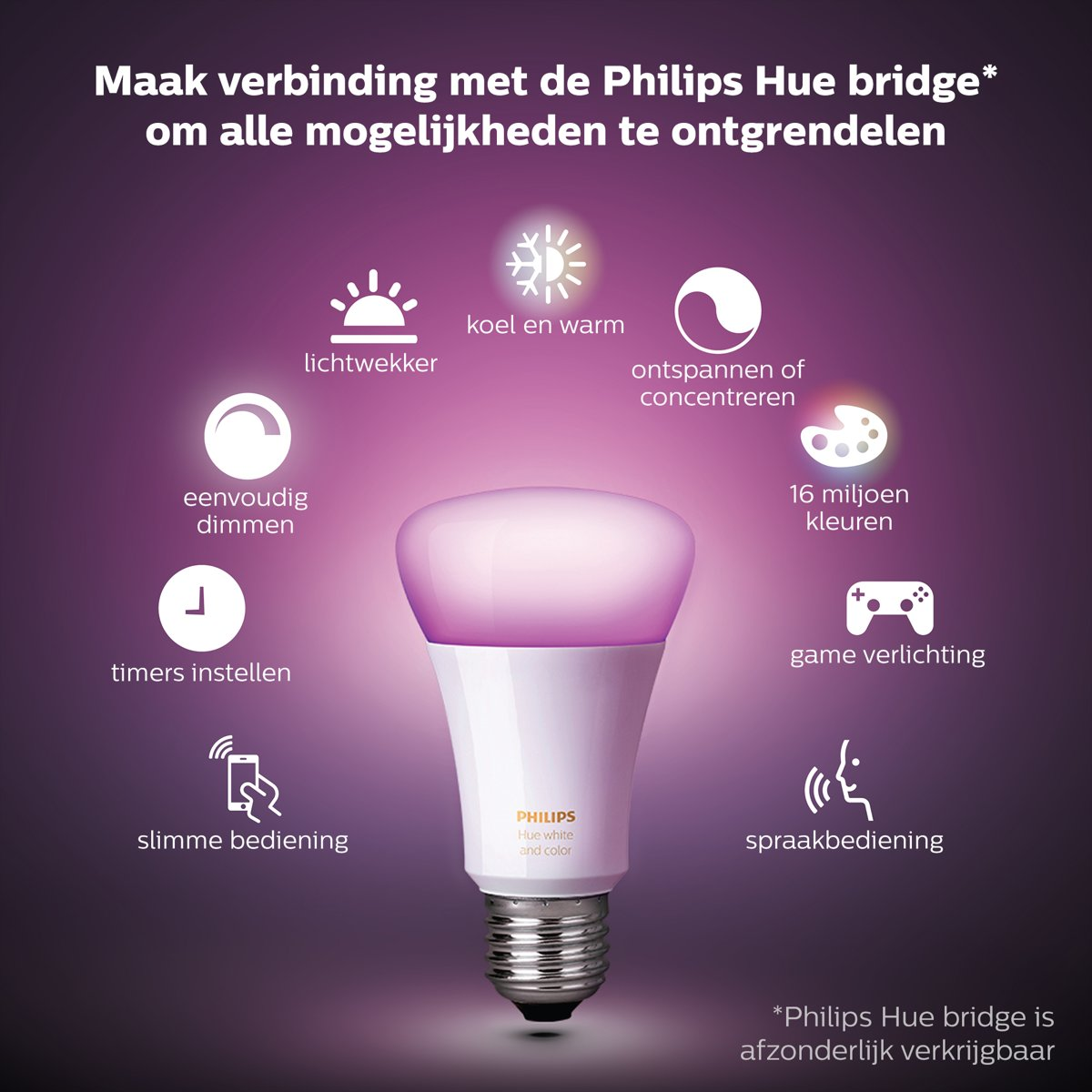 Eneco Toon Verlichting Philips Hue White And Color Ambiance Lichtbron E27