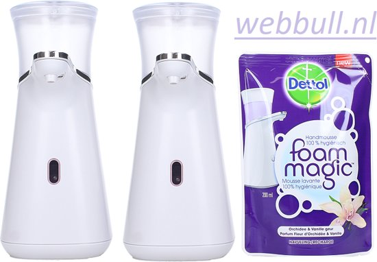 Dispenser Zeep Bol.com | 2 Xdettol Dispenser Foam Magic + Vulling Orchid