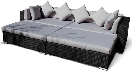 Lounche Set Kussens Bol.com | 24designs Loungeset Ligbed Sunflower - Zwart