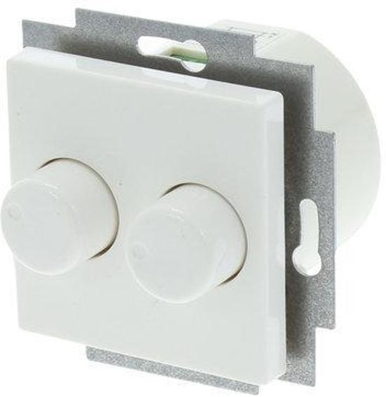 Bol.com Led Verlichting Bol.com | Jung As500 Duo-dimmer 2x150w Inbouw | Wit