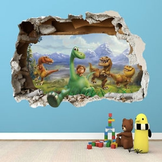 3d Brick Wallpaper South Africa Bol Com Disney The Good Dinosaur 3d Muursticker
