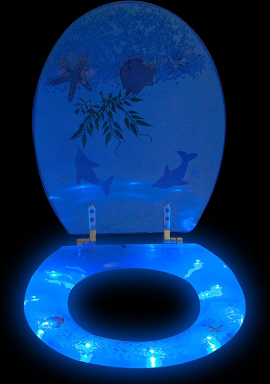 Tectake Verlichting Bol.com | Led Toiletbril 3d Wc Bril Toiletzitting