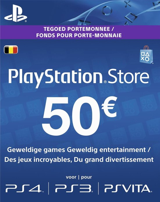 Ps4 Cadeaukaart Bol.com | Belgisch Sony Playstation Network Psn Giftcard