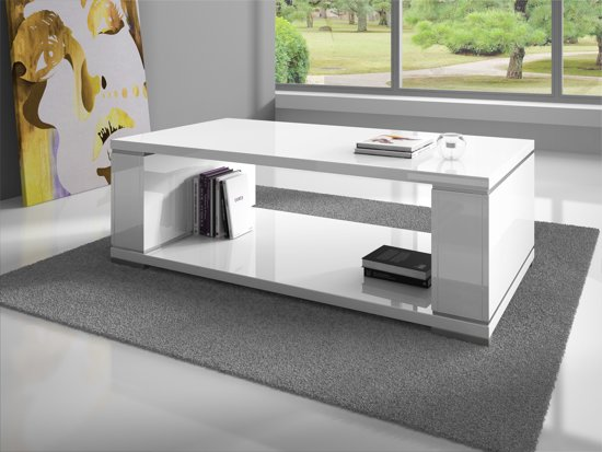 Design Couchtisch Outlet Bol.com | Meubella - Salontafel Limo - Hoogglans Wit
