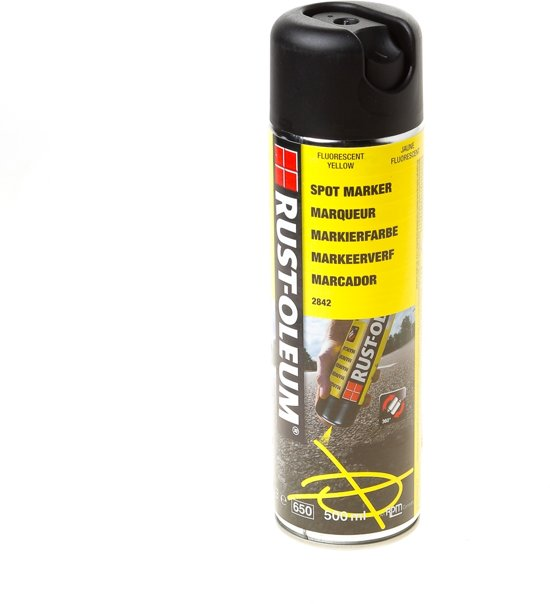 Waterbasis Over Terpentinebasis Bol.com | Rust-oleum Spuitverf Markeerspray 2842 500ml