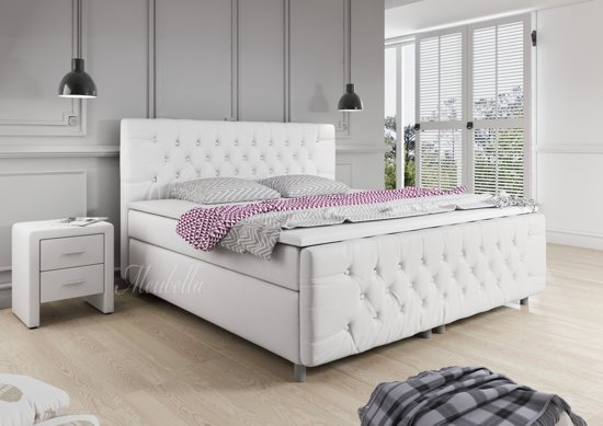 Boxspring Wit Leer Bol.com | Boxspring Charlie - Wit - Leer - 140 X 200 Cm