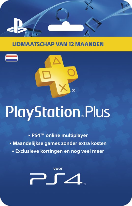 Ps4 Cadeaukaart Bol.com | Nederlands Sony Playstation Plus Abonnement 365