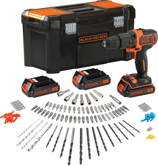 Black En Decker Klopboormachine Bol.com | Black+decker - Bdchd181b3a-qw- Kit: 18v Schroef