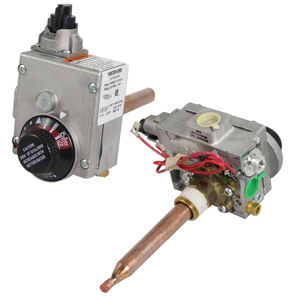Water Heater Gas Valve And Temperature Control Assembly