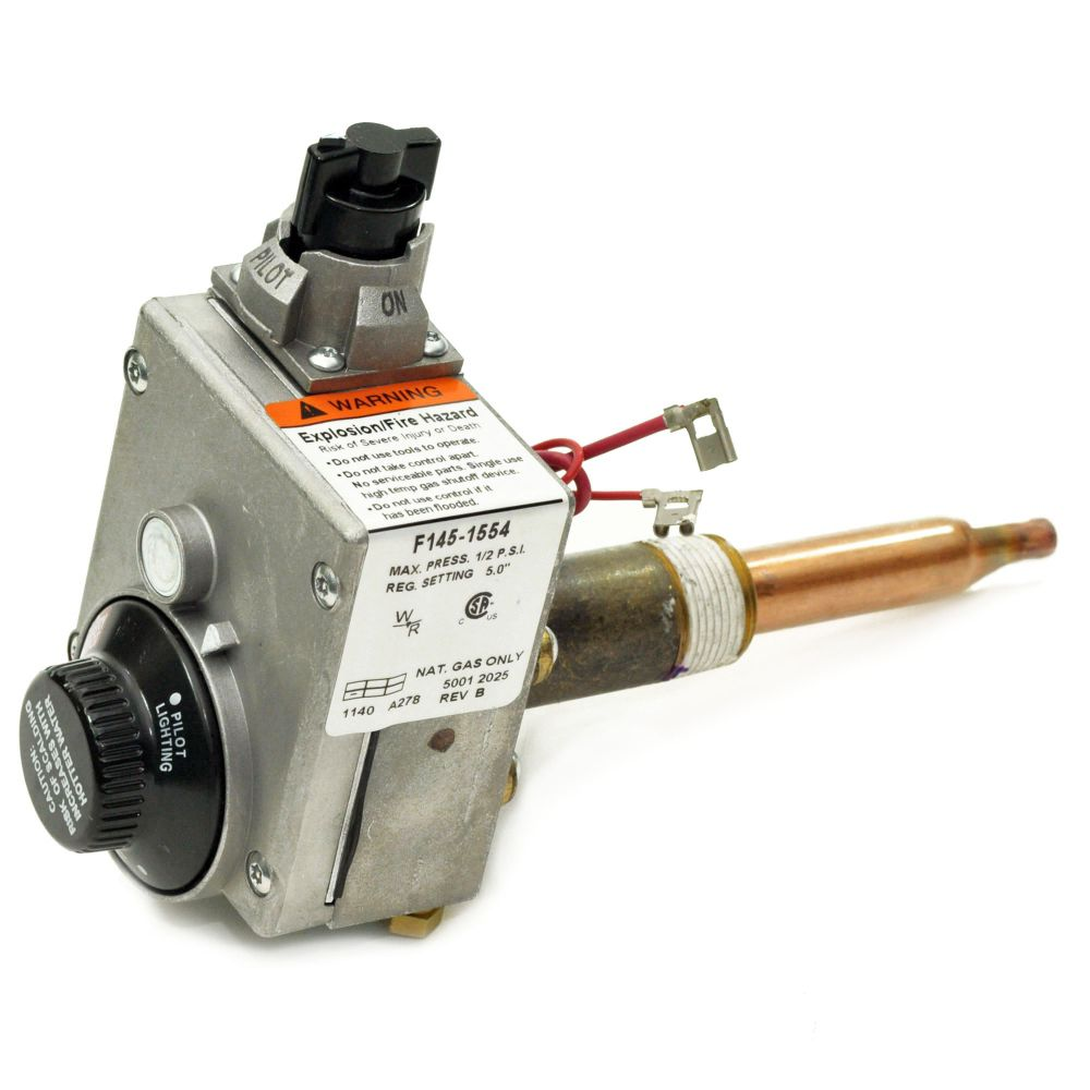 Water Heater Gas Control Valve Part Number F145 1554