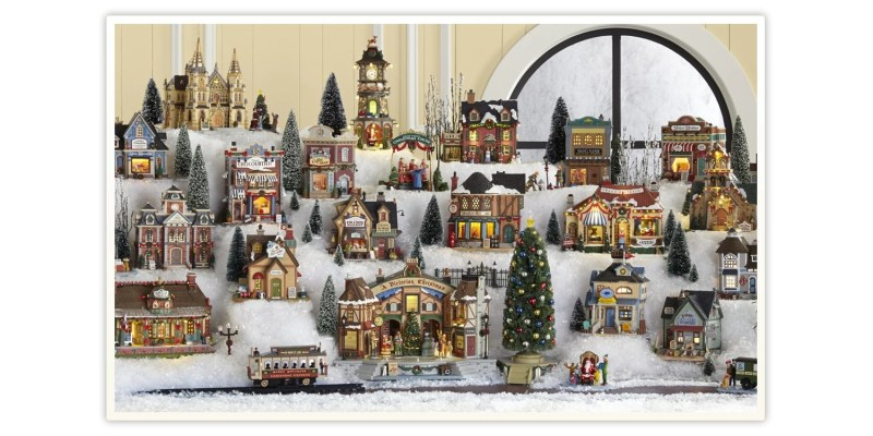 Large Of Christmas Village Houses