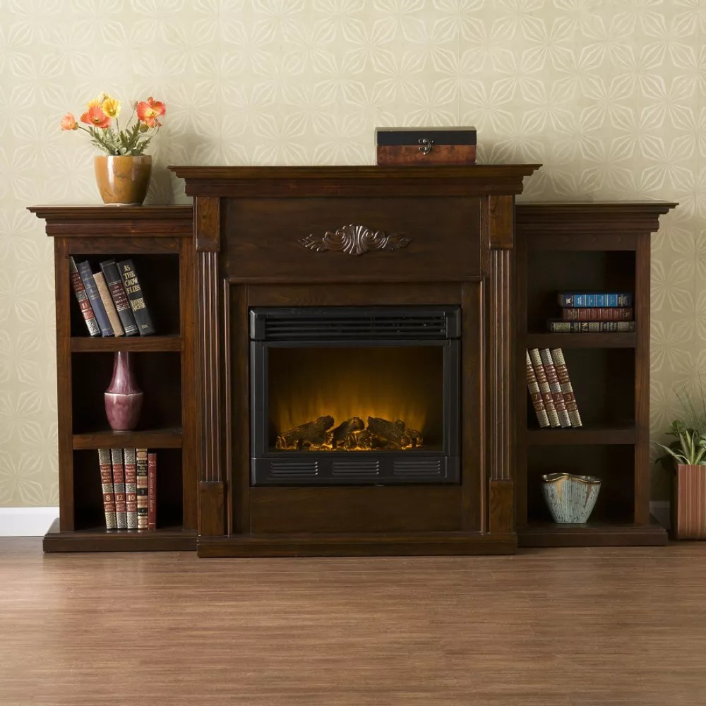 Tennyson Bookcase Electric Fireplace Southern Enterprises Electric Fireplace Products On Sale
