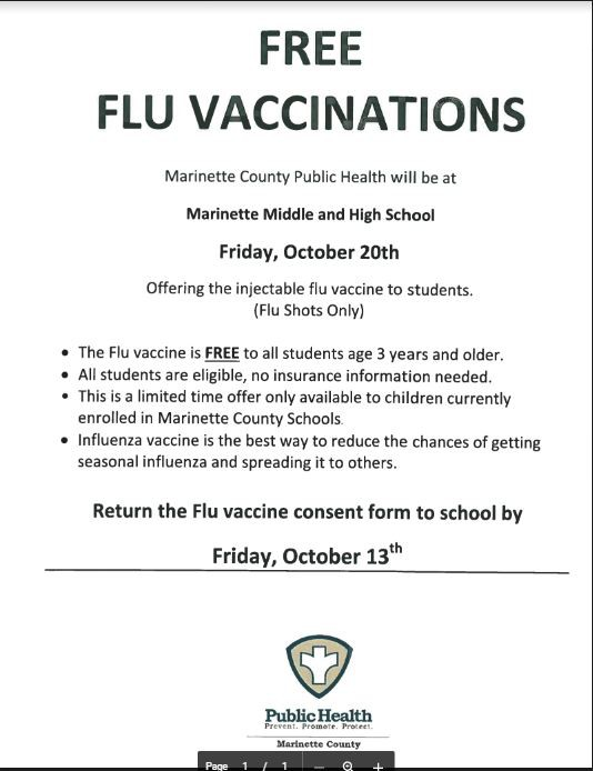 Marinette Middle School News Smore Newsletters - vaccine order form