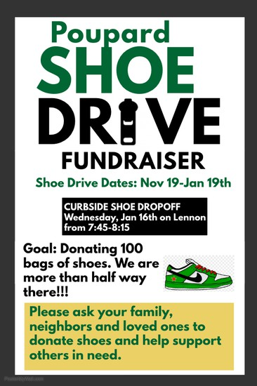 Shoe Drive Collection Day -Jan 16th Smore Newsletters for Education