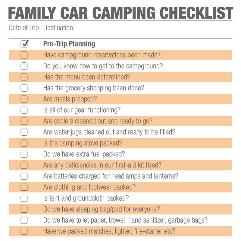 Family Camping Checklist How to Plan the Perfect Trip Sierra Blog
