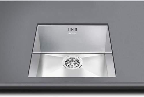 Mira Undermount Kitchen Sink 340x400mm S Steel Smeg