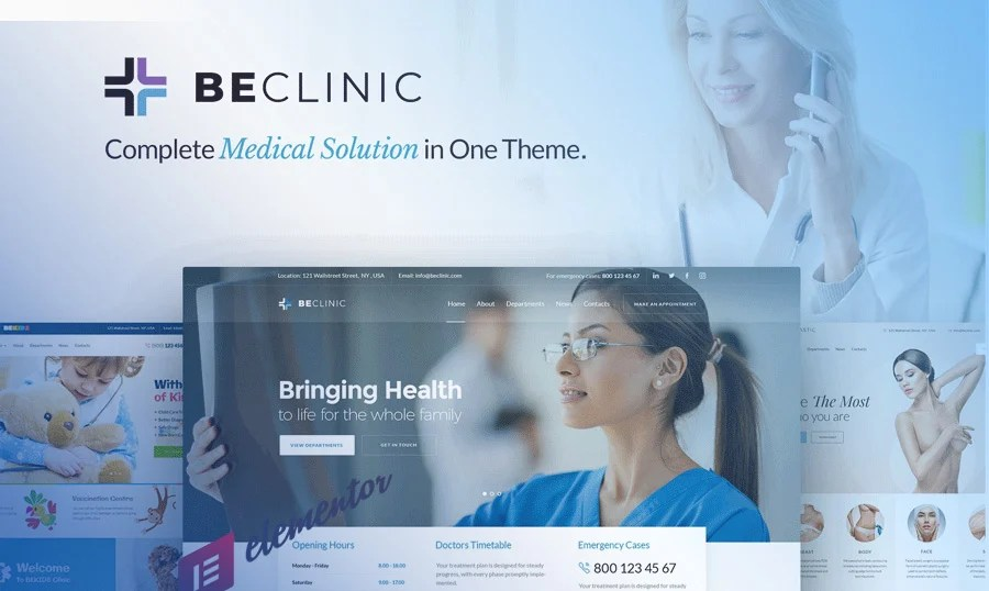 91+ Best Medical WordPress Themes 2018 TemplateMonster