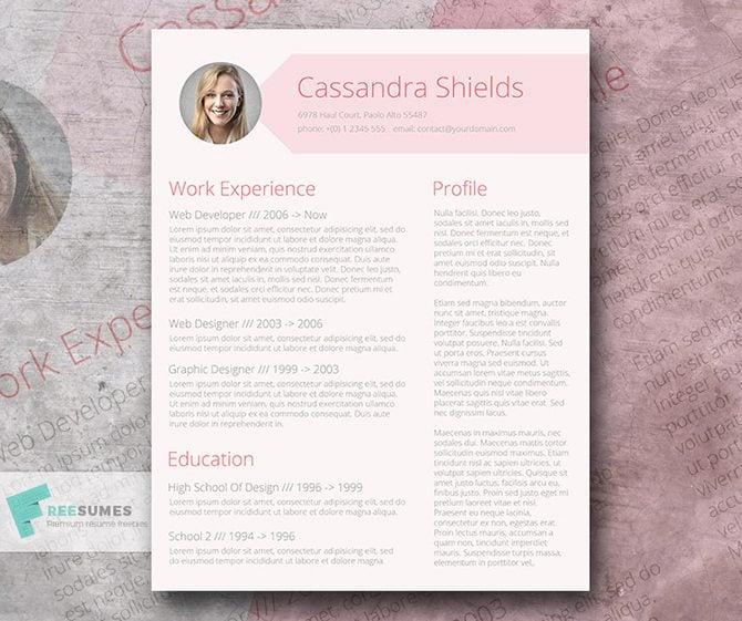 free fancy resume templates - Ozilalmanoof
