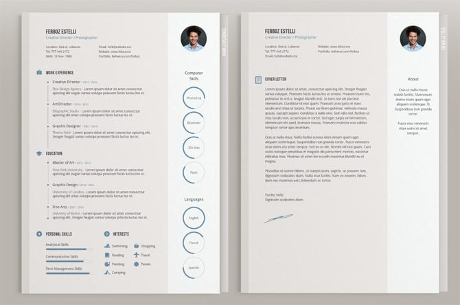 free graphic design resume template - Onwebioinnovate - Free Graphic Design Resume Templates