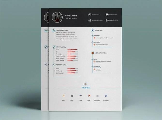 creative resume template free download - Trisamoorddiner