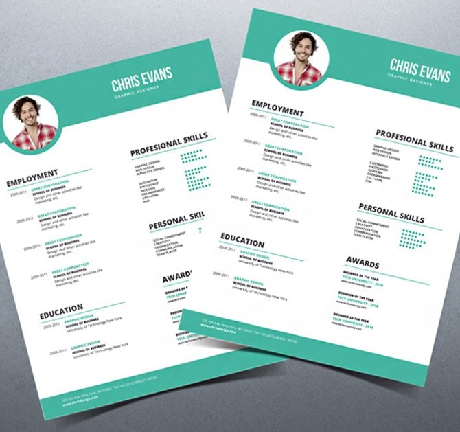 Free Download Adobe Muse Resume Template Personale A Resume Piktochart