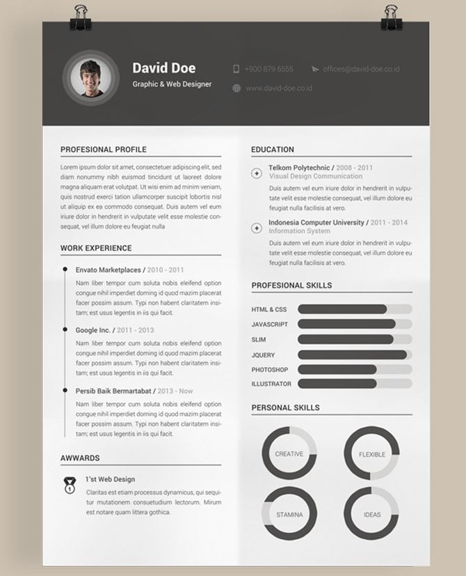 cool cv templates - Towerssconstruction