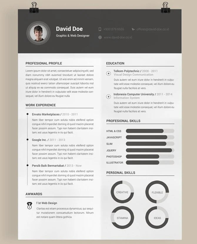 creative cv template word - Towerssconstruction