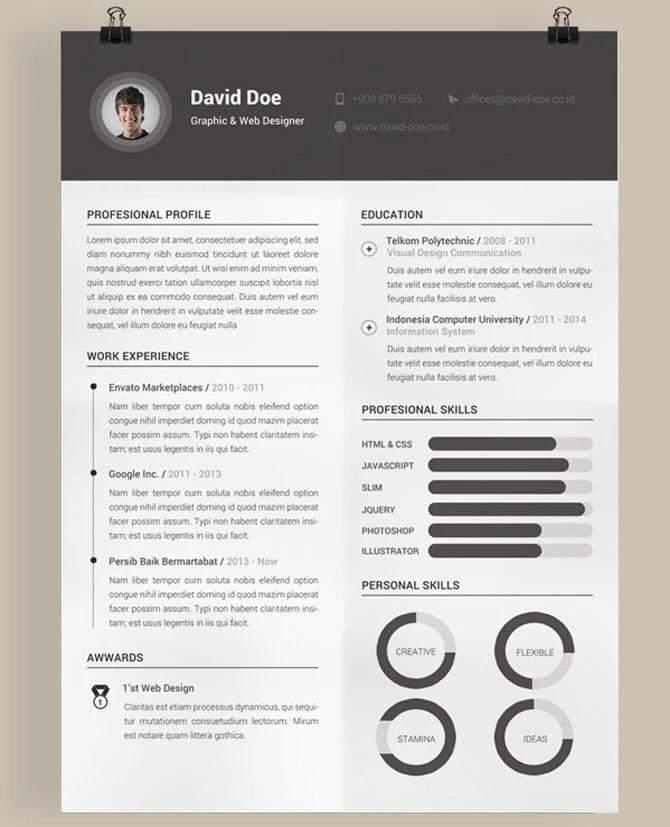 Resume Formats Creative Resume Pdf Download