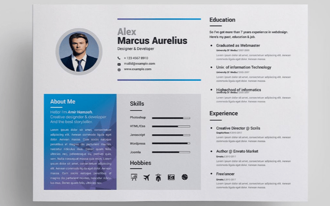 free cv template publisher