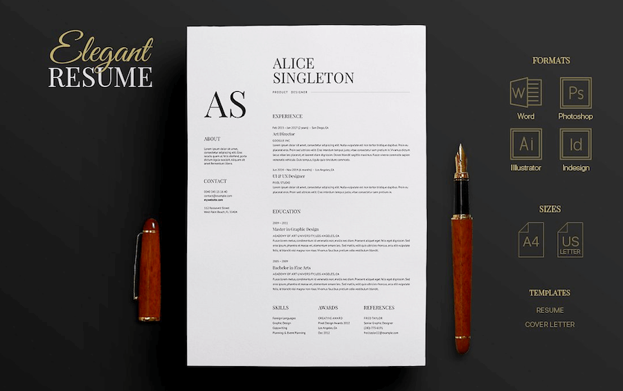 change background in word resume template