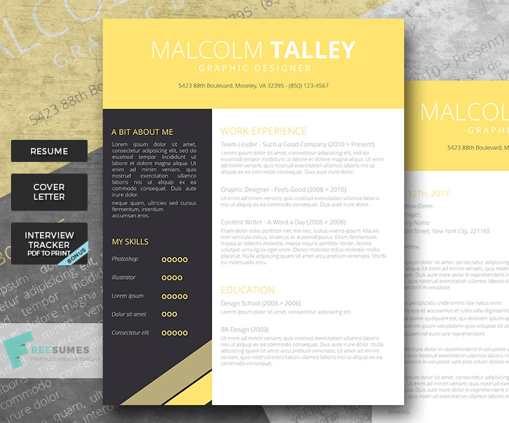 creer cv design word