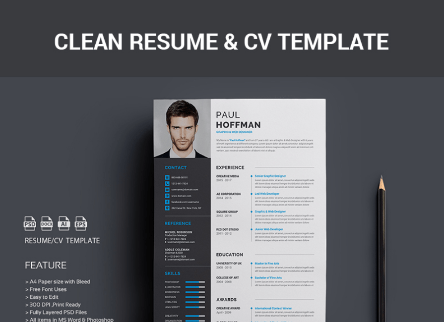 free cv template word magazine cover