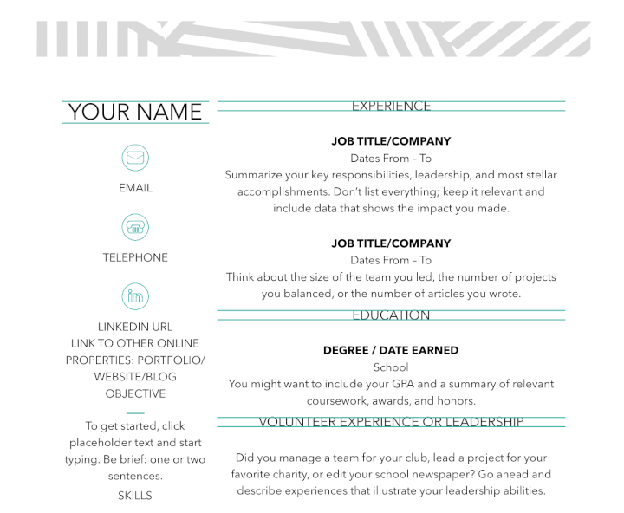 moo resume templates for word