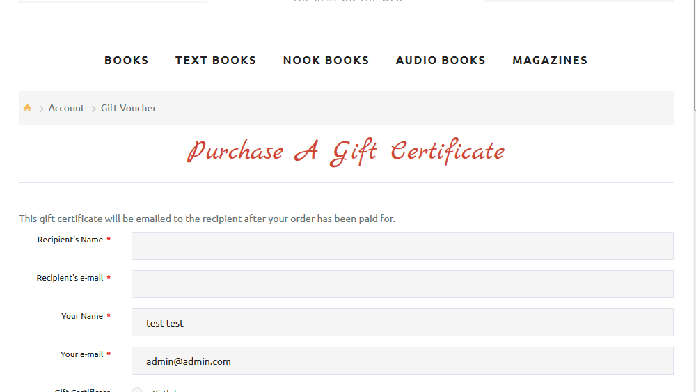 OpenCart 2x How to edit the title and the content of the Gift - gift certificate template pages