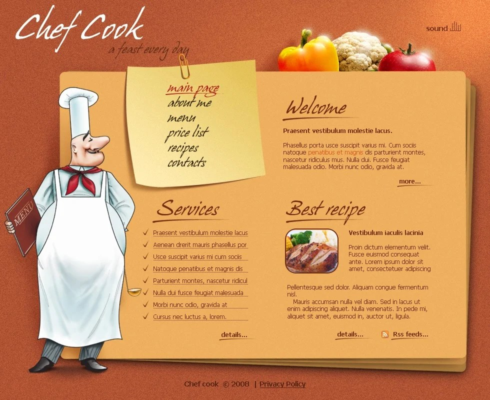 Chef Website Template #21020