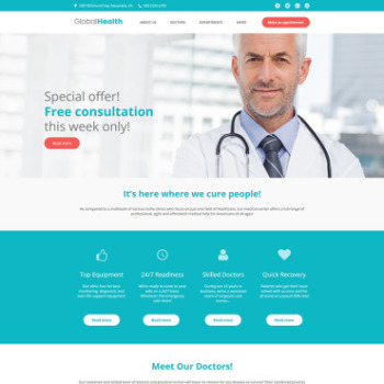 Dermatologist Website Template for Skincare Doctors MotoCMS