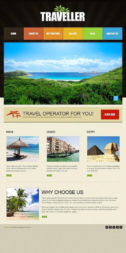 Travel Joomla Template Website Templates