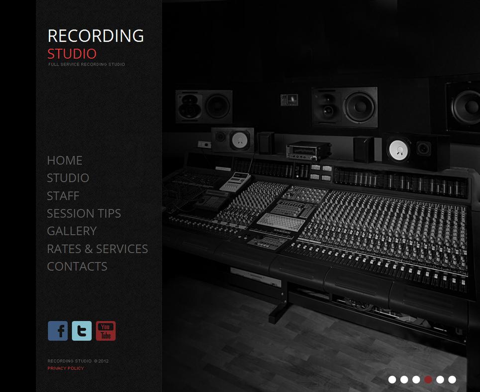Recording Studio Moto CMS HTML Template #42095