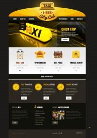 Skeuomorphism Taxi WordPress Theme #43106