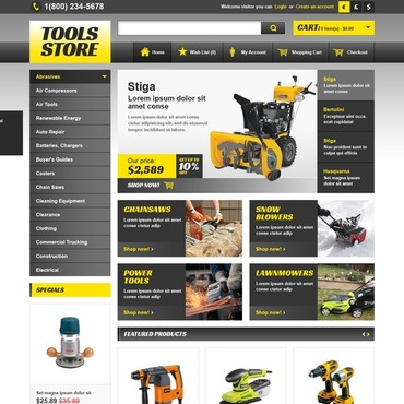 Tools  Equipment Templates Website Templates