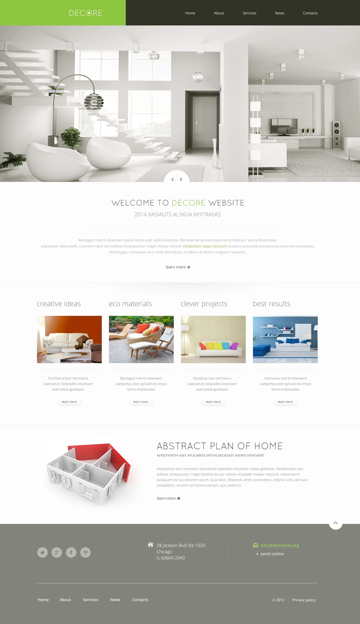Home Decor Websites Home Decor Responsive Website Template 46692