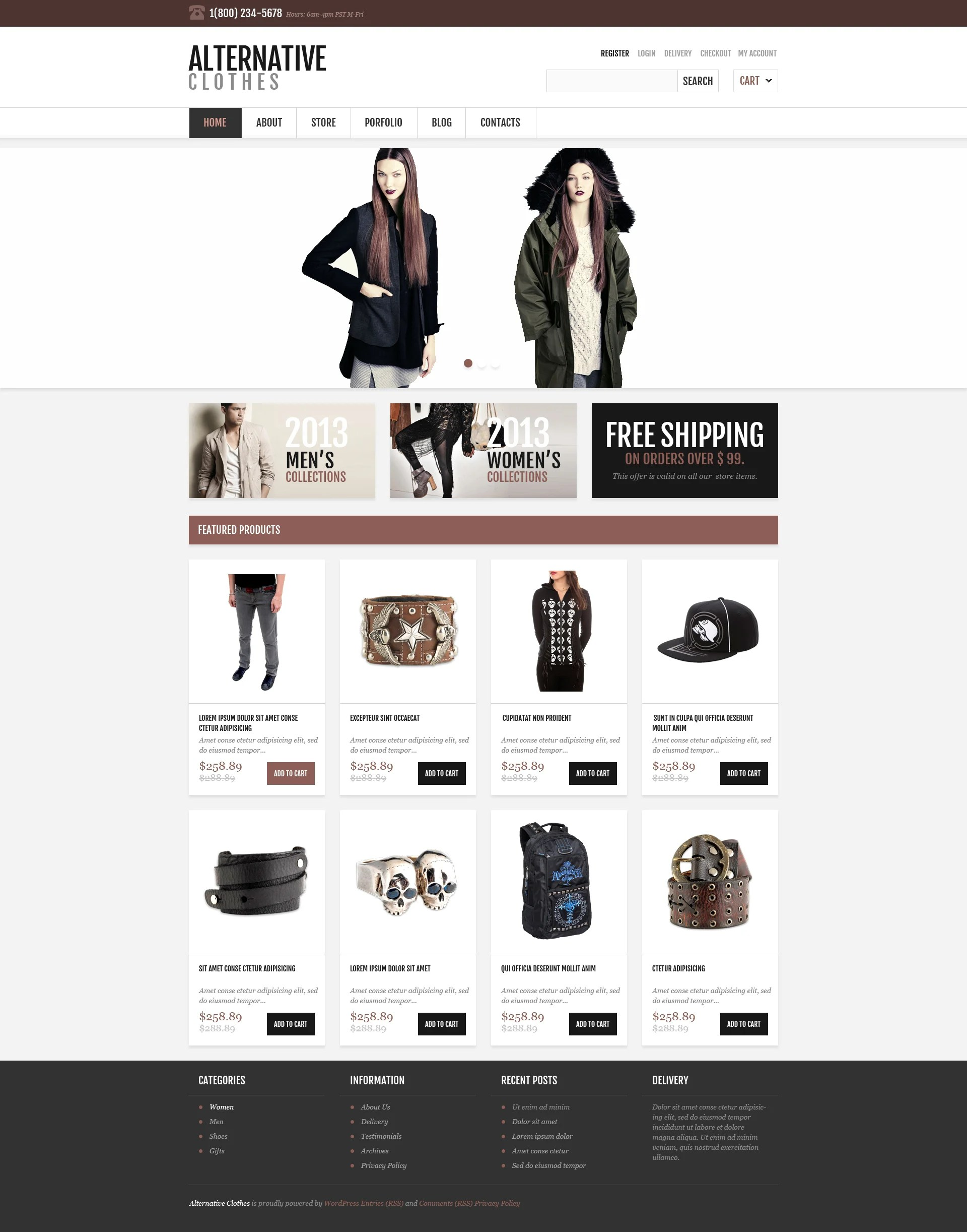 Design Shop Online Responsive Alternative Store Woocommerce Theme 46710