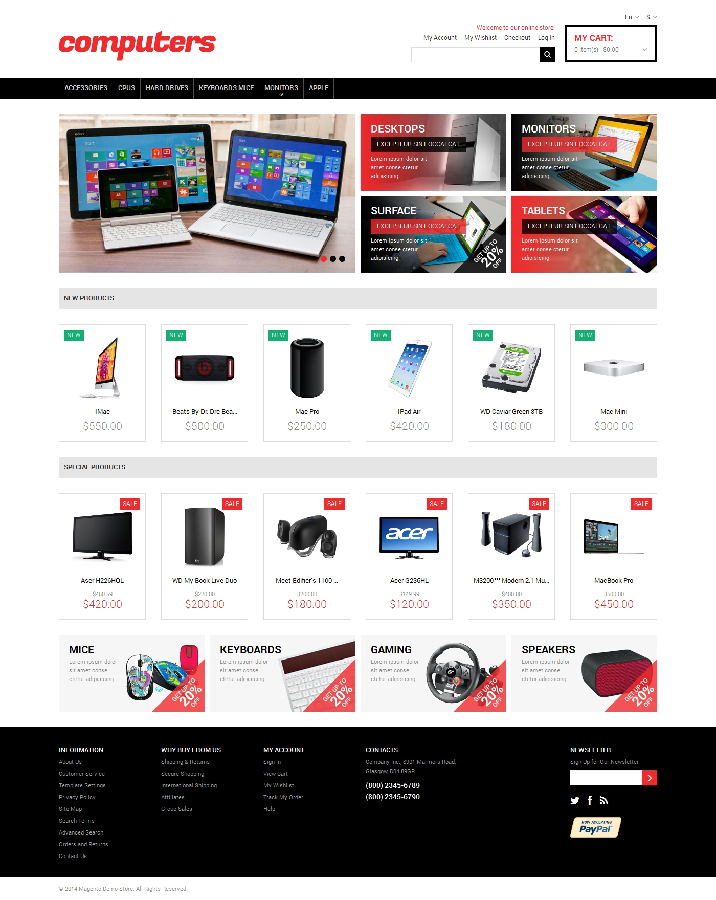 Computer Online Store Computer Store Responsive Magento Theme 48819