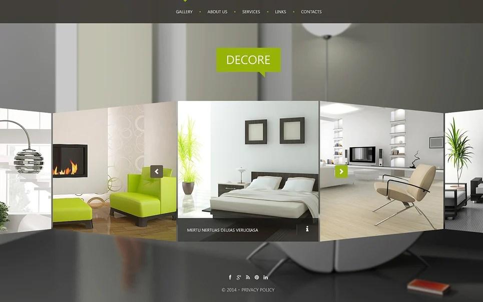 Interior Design Website Template #51116 - interior design web template