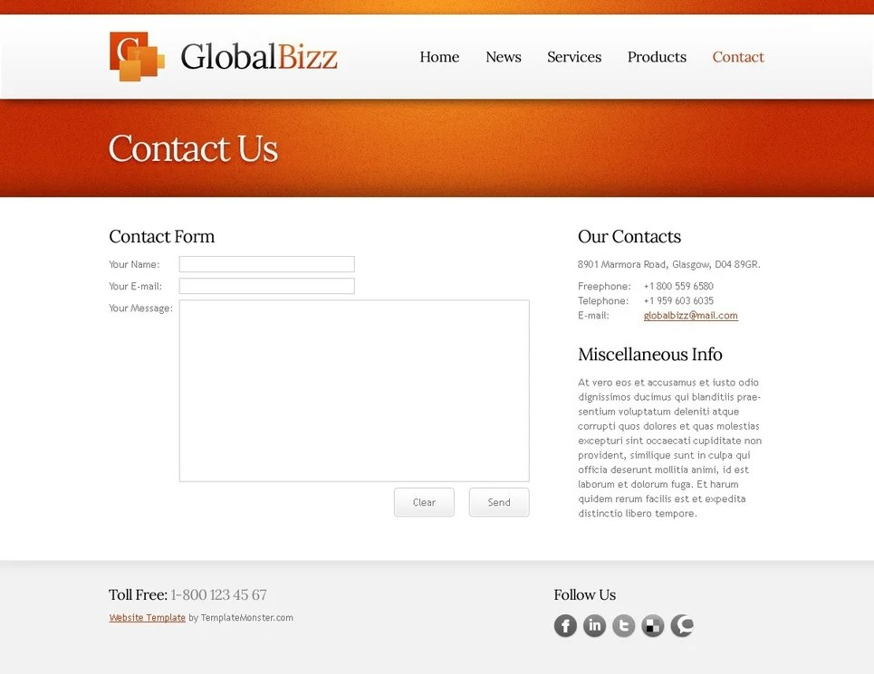 Business Website Free HTML Template