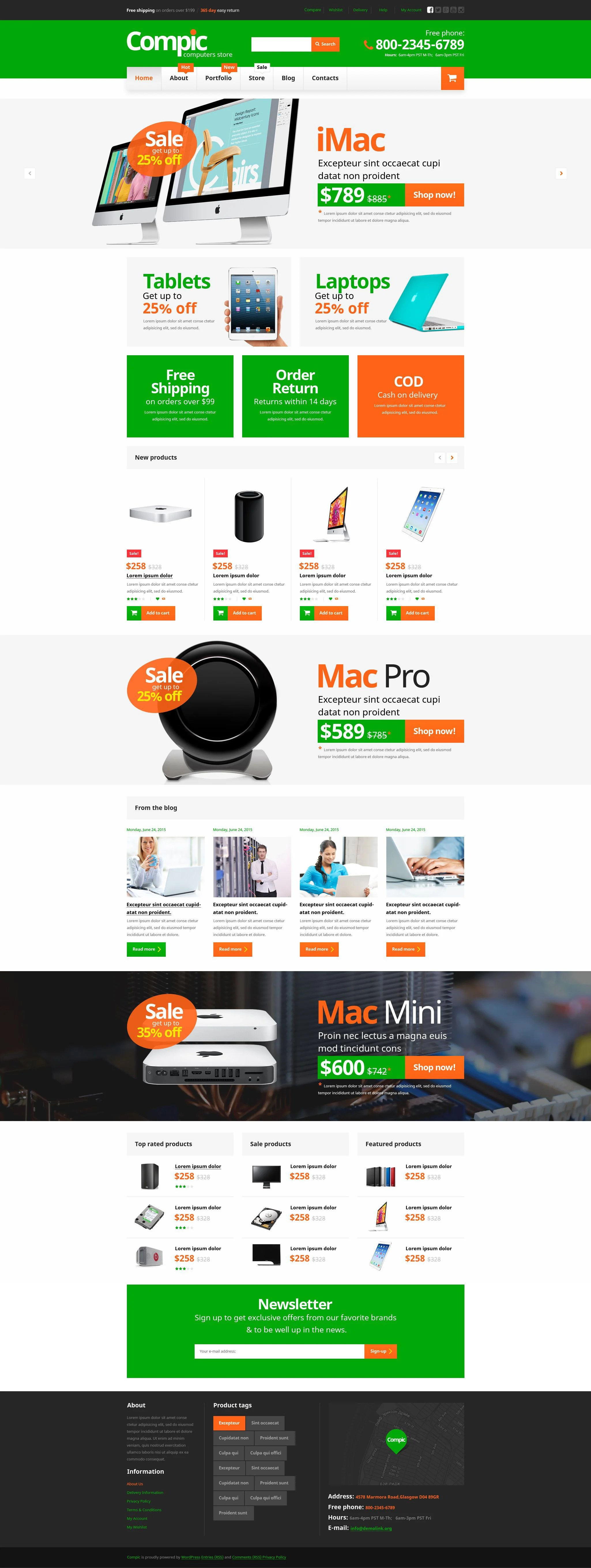 Computer Online Store Computer Hardware Woocommerce Theme