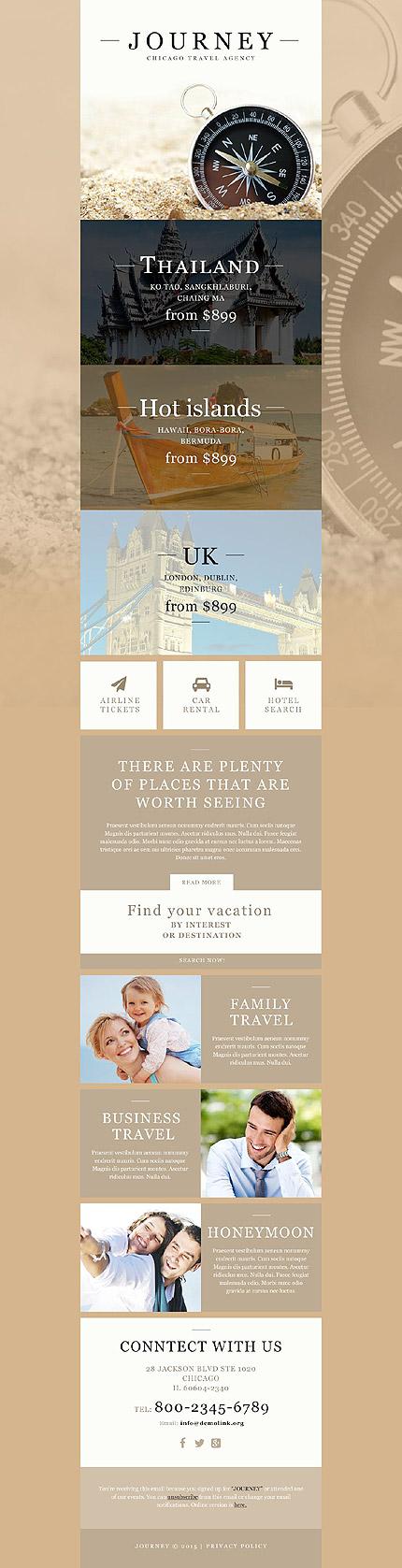 Travel Newsletter Template Website Templates
