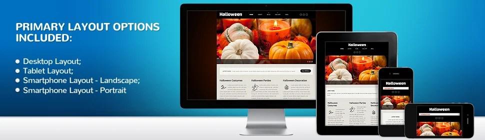 Halloween Website Template 54013, Website Templates - Zeronese